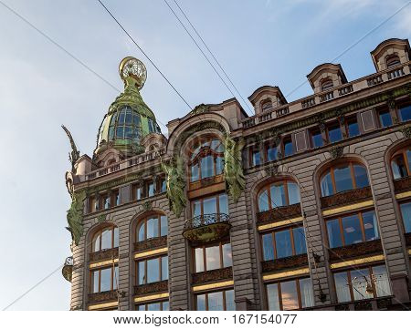 Singer -Zinger- House on Nevsky Prospect in the historic center of St Petersburg Russia. Also widely known as the House of Books