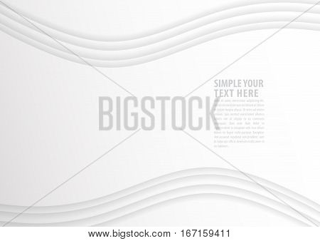 The Abstract white blank Background Illustration EPS10