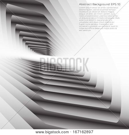 Grey background with copy space. Lowpoly vector illustration. Used opacity mask of background, gradient