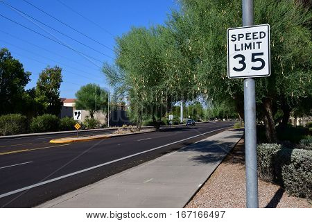 Scottsdale USA - july 7 2016 : a road in the city center