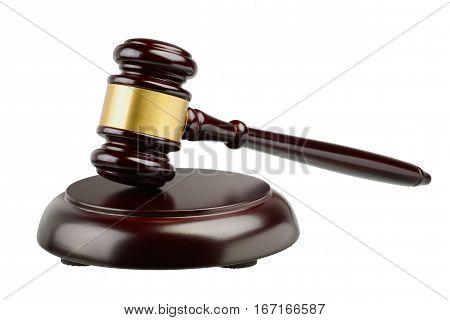 Judges Gavel Isolated