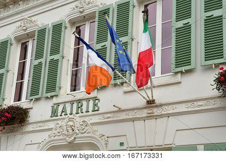 Le Bois Plage en Re France - september 27 2016 : the city hall