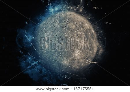 Planet Art - Mercury. Elements Of This Image Furnished By Nasa