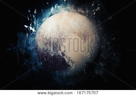 Planet Art - Pluto. Elements Of This Image Furnished By Nasa