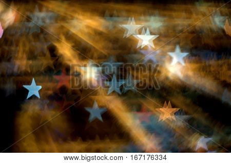 stars bokeh effect background red and white