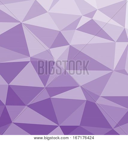 Vector background with polygonal pattern in purple and lilac colors