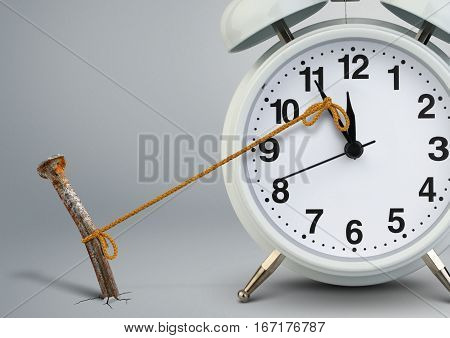 Time on clock stop by nail delay concept
