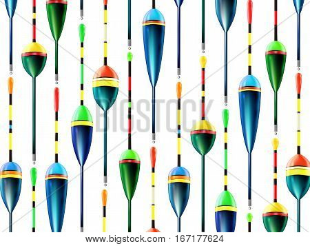 Fishing Bobbers Background Hooks Wallpaper White 1