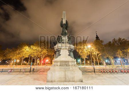 Francesc De Paula Rius I Taulet Monument - Barcelona
