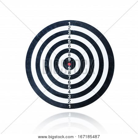 Blank dart board isolated on the white background With clipping path
