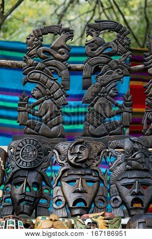 Mayan Souvenirs On Sale In Chichen Itza