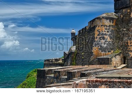 View from El Morro Fort in San Juan Puerto Rico