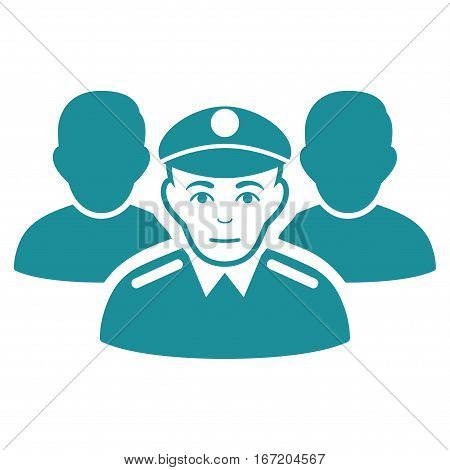 Army Team vector icon. Flat soft blue symbol. Pictogram is isolated on a white background. Designed for web and software interfaces.