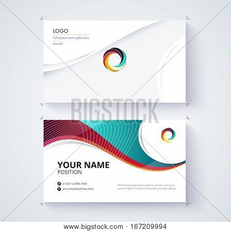 Business Card Template Commercial Design.