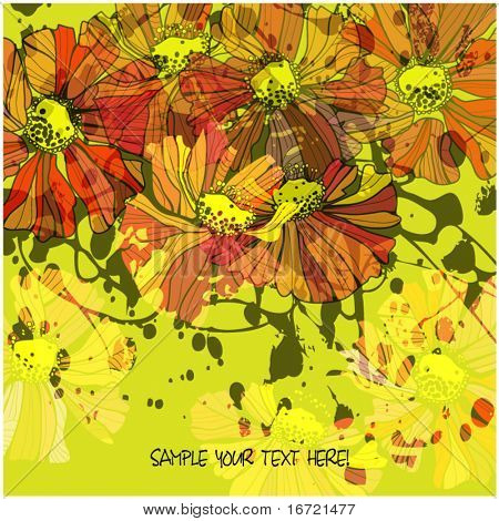 art beautiful flower background
