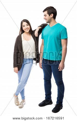 Cute Girl Leaning On Her Boyfriend