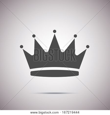 Vector shape of crown icon for web design. Stock illustration