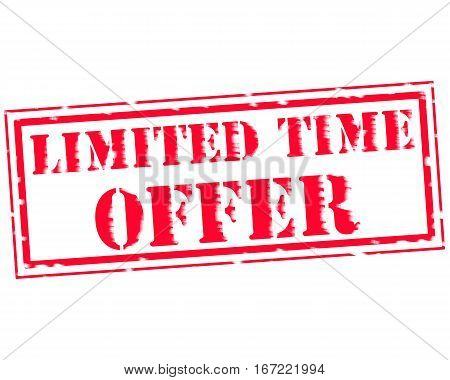 LIMITED TIME OFFER RED Stamp Text on white backgroud