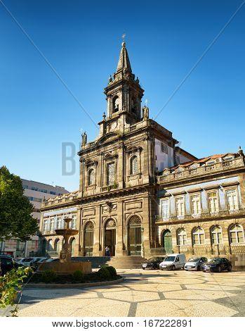 The Trinity Church In Porto, Portugal.
