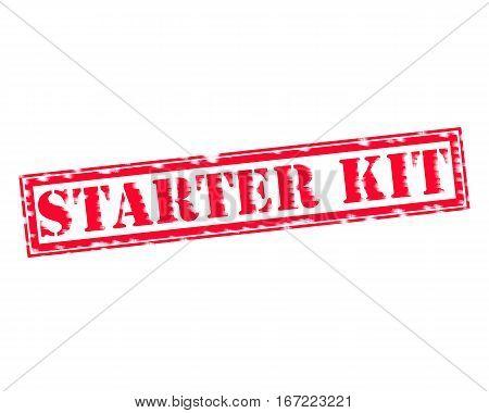 STARTER KIT RED Stamp Text on white backgroud
