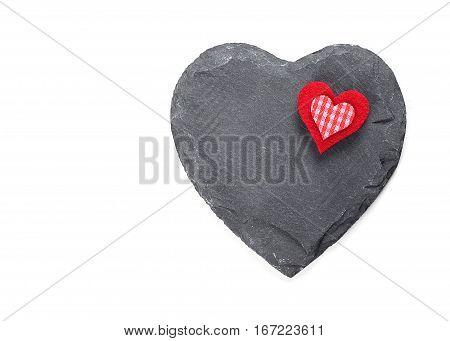 Isolated stone heart symbol on white background