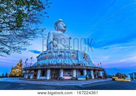 Buddha Image In Front Of Big Buddha