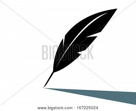 Vector feather icon on white background art