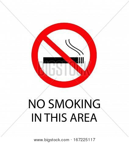 No Smoking Sign vector illustration on white