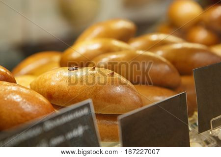 Fresh Appetizing Bakery Product On Sale In Food Store