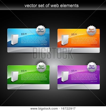 product display item in different colors poster
