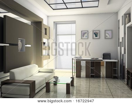 office rest room interior