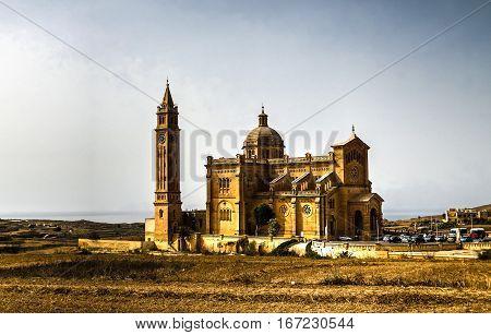 Exterior view to Ta Pinu Sanctuary Gharb Malta