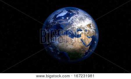 earth, planet, world, globe, space, map of the world, africa, europe, rendering, 3d model, visualization