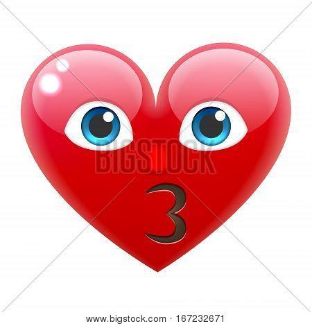 Kissing Heart Smile Emoticon. Kissing Heart Emoji