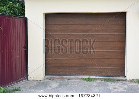 Garage Door. House Garage Door Installation Outdoor