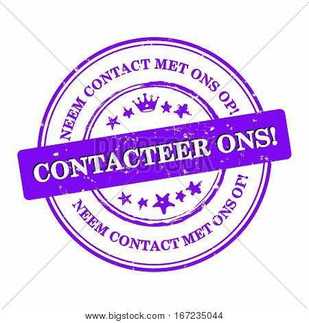 Contact us! Dutch language: Contacteer ons! Neem contact met ons op - label  / sticker  / sign / icon, also for print