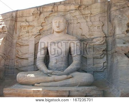 Statue of Buddha on heritage site