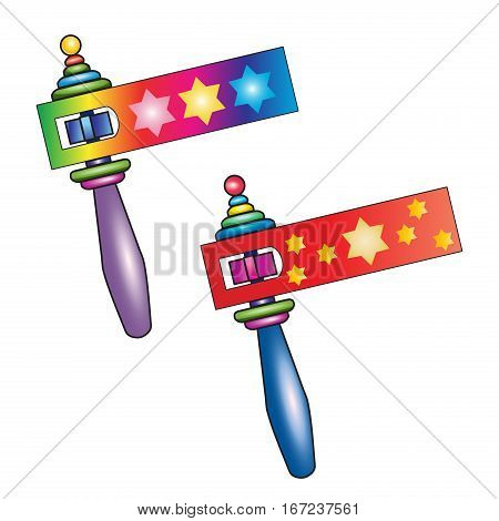 Purim toy noisemaker, also called