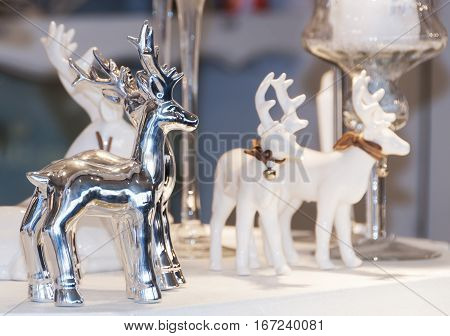 festive table decoration for a christmas dinner in germany