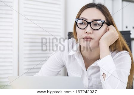 Girl Thinking About Other Job