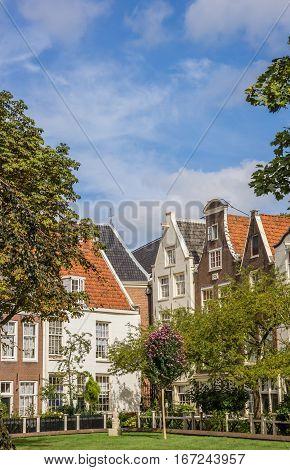 Old Houses At The Historical Begijnhof In Amsterdam