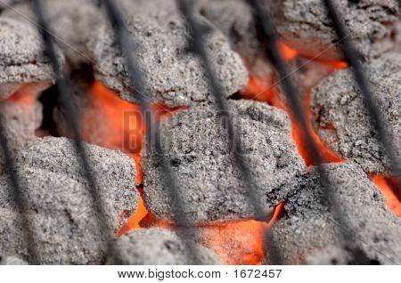Hot Barbeque Charcoal