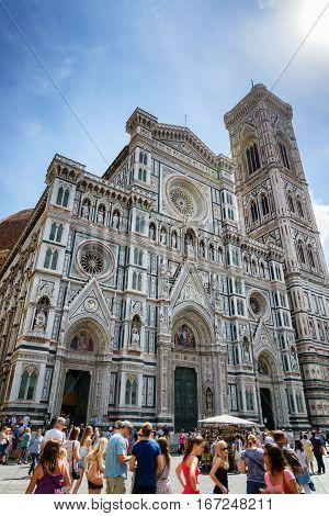 Facade Of The Cathedral Of Saint Mary Of The Flower, Florence