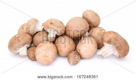 Heap Of Chestnut Mushrooms Showing Caps And Stalks