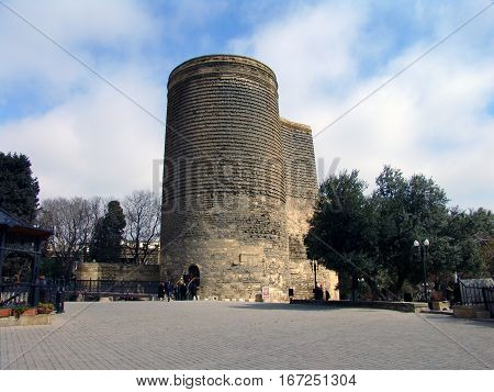 View at Maiden Tower in down town of Baku. Azerbaijan