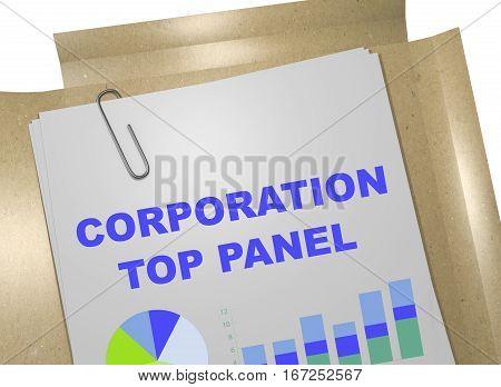 Corporation Top Panel - Business Concept