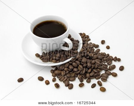 The coffee on the white background (isolated).