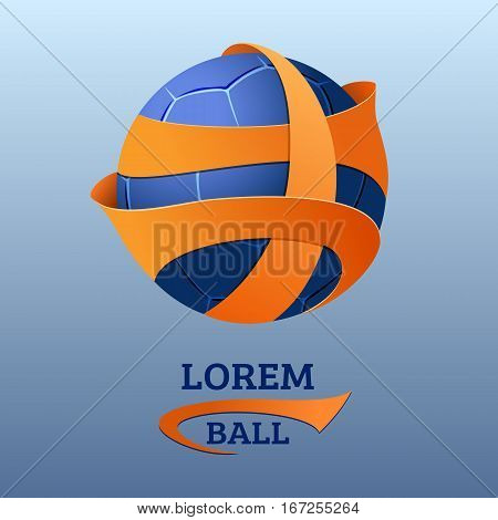 Soccer emblem. Logo for football team league competition or other event. Sport ball vector template.