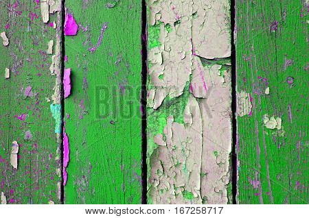 Texture of painted wood. Wood texture background with texture peeling paint - texture background of chipped texture painted surface
