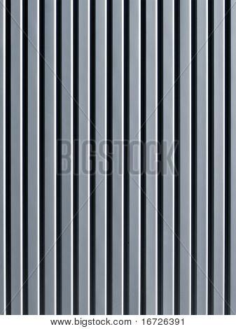 Corrugated surface.